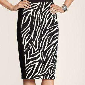 Chico's So Slimming Zebra Panel Pencil Skirt